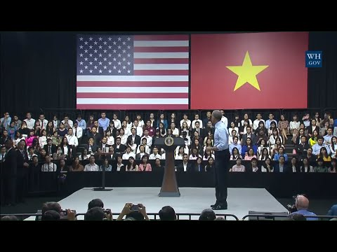 President Obama Holds a YSEALI Town Hall, HCMC, Vietnam