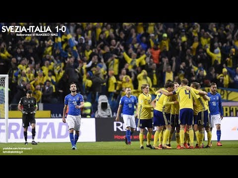 SVEZIA-ITALIA 1-0 - Radiocronaca di Francesco Repice (10/11/2017) da Rai Radio 1