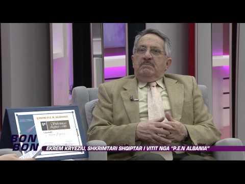 """Ekrem Kryeziu, shkrimtari shqiptar i vitit nga """"P.E.N ALBANIA"""" 24.11.2014"""