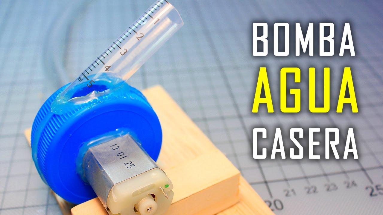Mini bomba de agua casera con motor experimentos caseros for Bombas de agua para estanques de jardin
