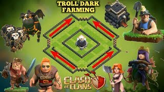 New TH9 Best Troll Dark Elixir Farming Base | Undefeated 2018 Base | Replay Proof | Clash of Clans