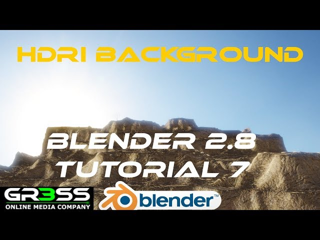 HDRI Backgrounds BLENDER 2.8 Tutorial 7 EEVEE Deutsch