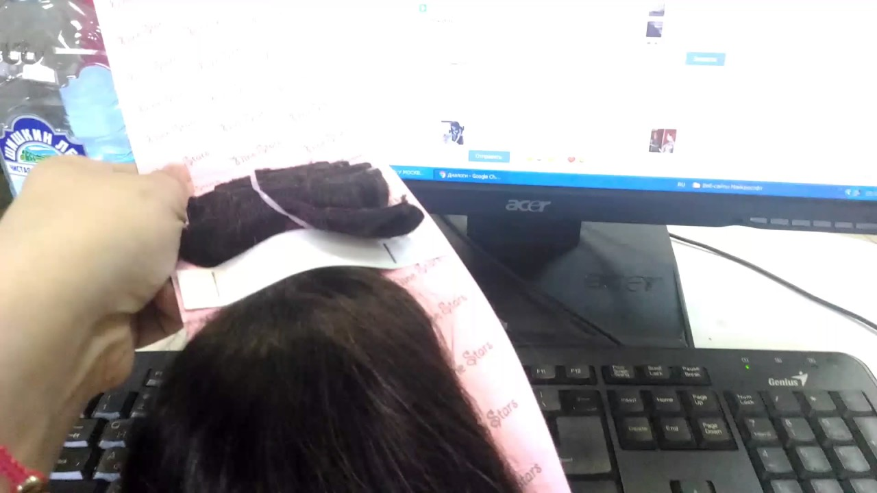 Как отрегулировать размер волос на леске VOLOSBEST.RU - YouTube