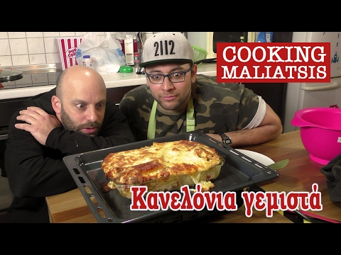 Cooking Maliatsis - 60 - Κανελόνια γεμιστά