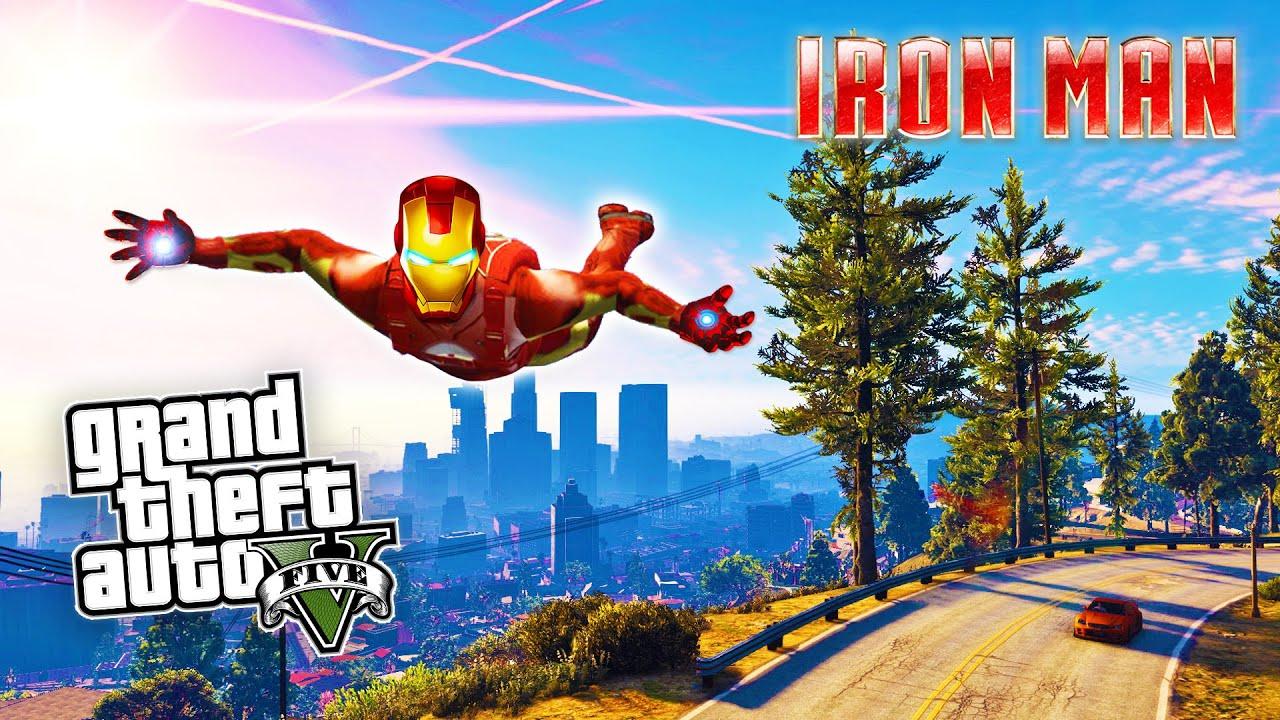 GTA 5 PC Mods: Iron Man, Hulk, Batman and Terminator Mod gameplay