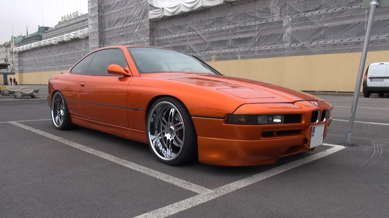 Candy Orange BMW 850 CiA On 20 Savini Forged Wheels