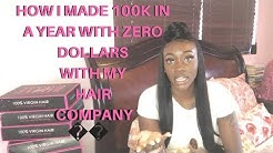How I Started My Hair Company + Made 100K In Sales