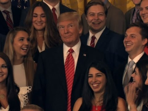 Associated Press: Trump Scolds Press During Intern Photo-Op