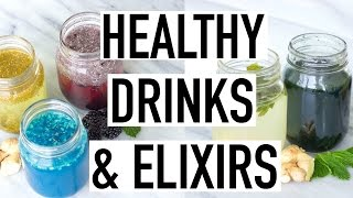 HEALTHY DRINK RECIPES! Weight loss, Bloating, Glowing Skin & More!