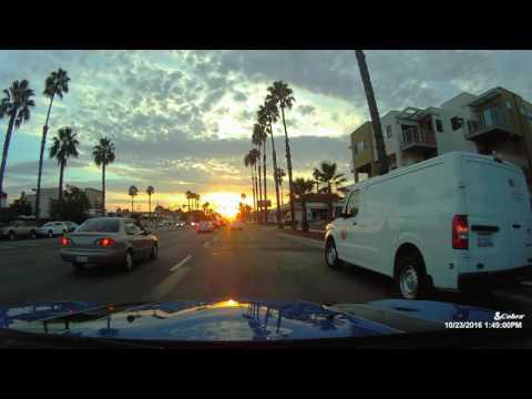 Driving In Pacific Beach, San Diego California