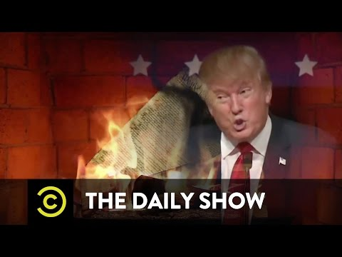 Donald Trump's Christmas (NOT HOLIDAY) Yule Log: The Daily Show