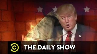 Donald Trump's Christmas (NOT HOLIDAY) Yule Log: The Daily Show thumbnail