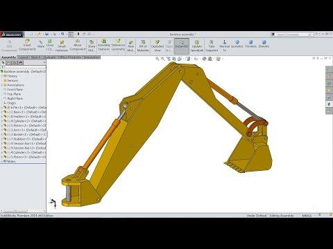 Solidworks Tutorial | Sketch Backhoe In Solidworks