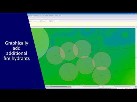 CIVIL DESIGNER Software: Fire Flow Analysis