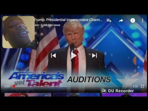 The Singing Trump : Presidential Impersonator Channels Bruno Mars America's Got Talent 2017 REACTION