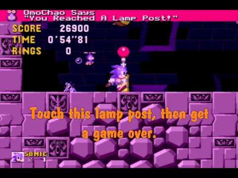 Crash Glitch In Sonic 1 Omochao Edition