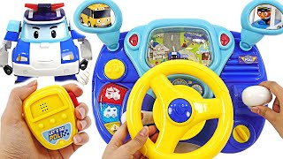 Robocar Poli Driving Toy Let S Drive A Police Car And Arrest The Villain Pinkypoptoy