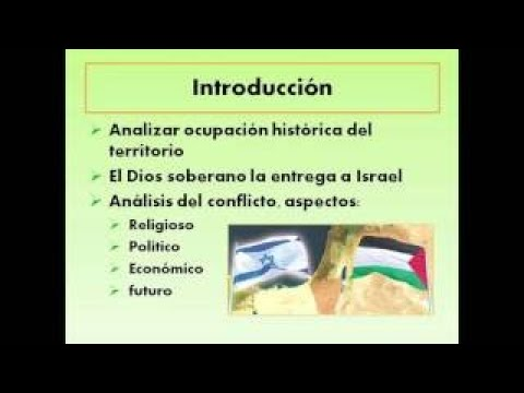 ISRAEL Vs PALESTINA, El Conflicto A La Luz De La Biblia Parte I