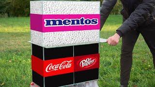 Experiment: Coca Cola VS Mentos & Dr Pepper VS Mentos