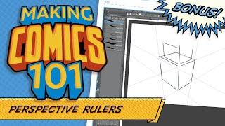 Using Perspective Rulers In Clip Studio Paint! Making Comics 101 Bonus!