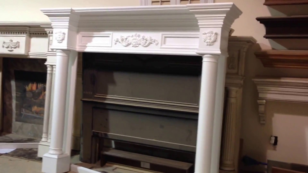 The Philadelphia Mantel  Custom Fireplace Mantels with Straight Columns  YouTube
