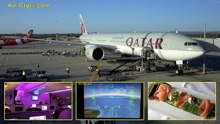 Repeat youtube video Qatar Airways Boeing 777-300ER Business Class Doha to Perth [AirClips full flight series]