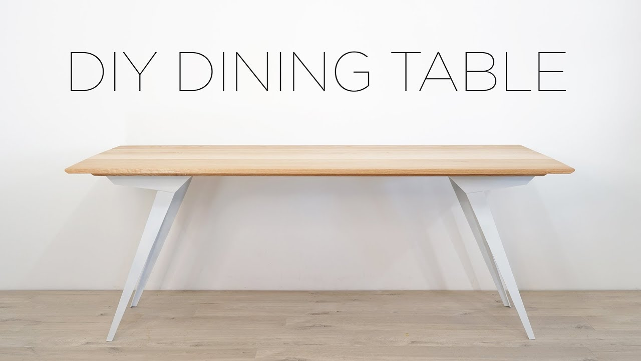 Diy Modern Dining Table Oak And Steel