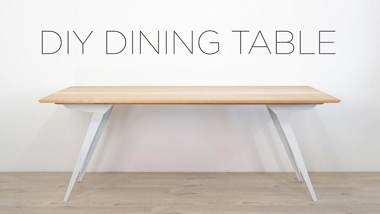Diy modern dining table oak and steel