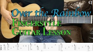 Download Over the Rainbow (With Tab) - Watch and Learn Fingerstyle Guitar Lesson Mp3 and Videos