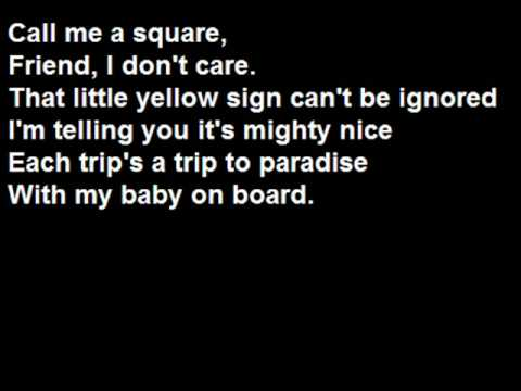 Baby on board - The Simpsons (With Lyrics)