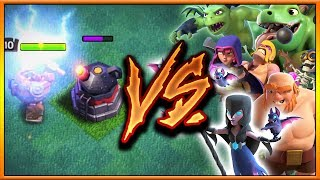 LEVEL 6 ROASTER vs ALL BH6 TROOPS ft. Night Witch  NEW DEFENSE COC JUNE 2017 UPDATE