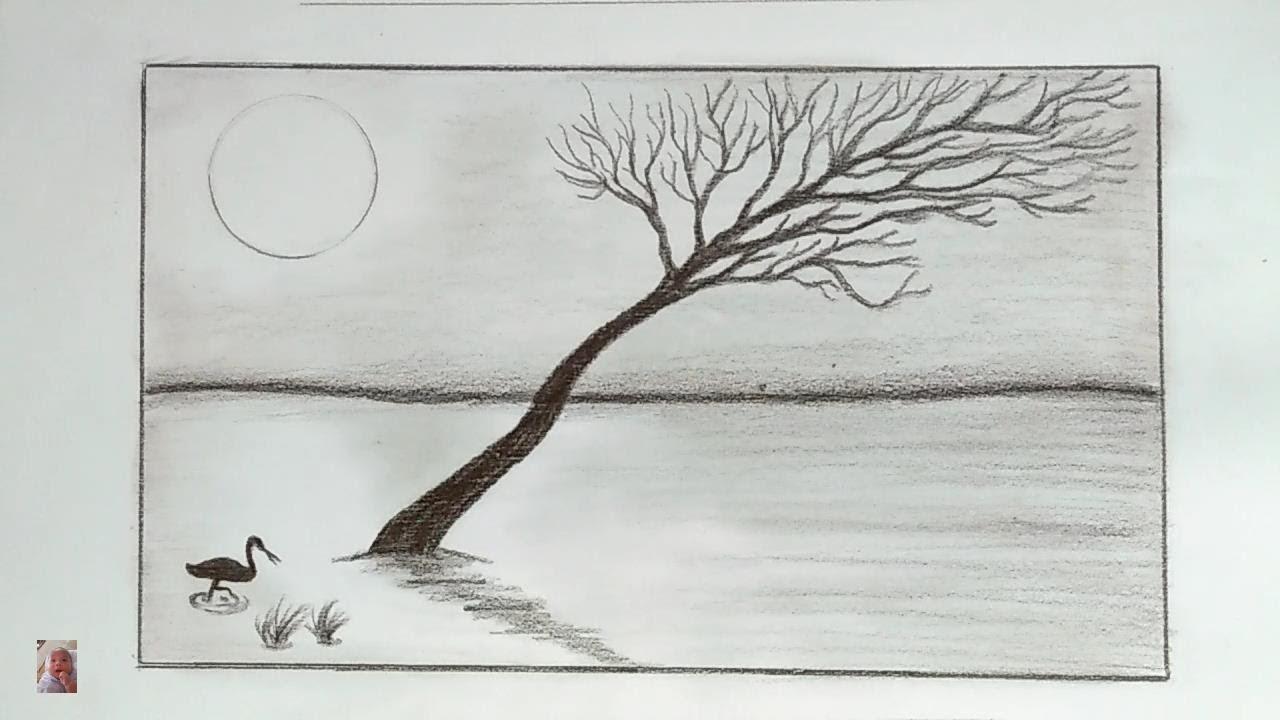 Vẽ tranh phong cảnh bình yên bằng bút chì – Painting peaceful landscapes with a pencil.