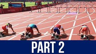 TOKYO 2020 Olympics Video Game Gameplay Part 2 - 110m HURDLES / BOXING / FOOTBALL