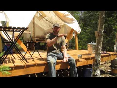 Building a tent platform doovi for Tent platform construction