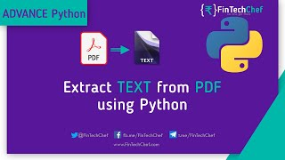 How to extract text from pdf using python  FinTechChef  OCR using python