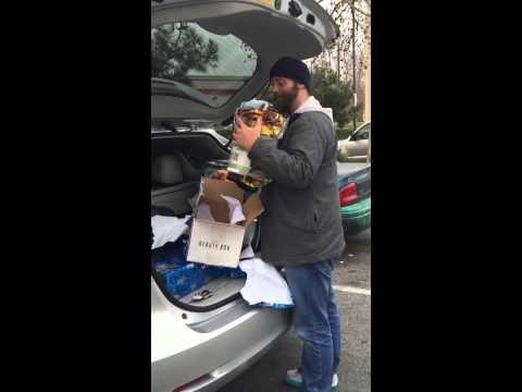 Homeless man reaction to receiving Christmas Gifts. Must Watch!