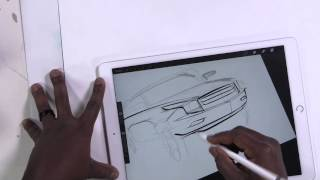 iPad Pro - How to draw a car - the blob method