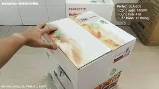 Mở hộp nồi chiên không dầu Perfect GLA-609 dung tích 4 lít