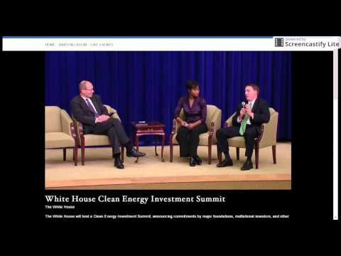 White House Clean Energy Investment Summit Panel with NREL and SmarterShade