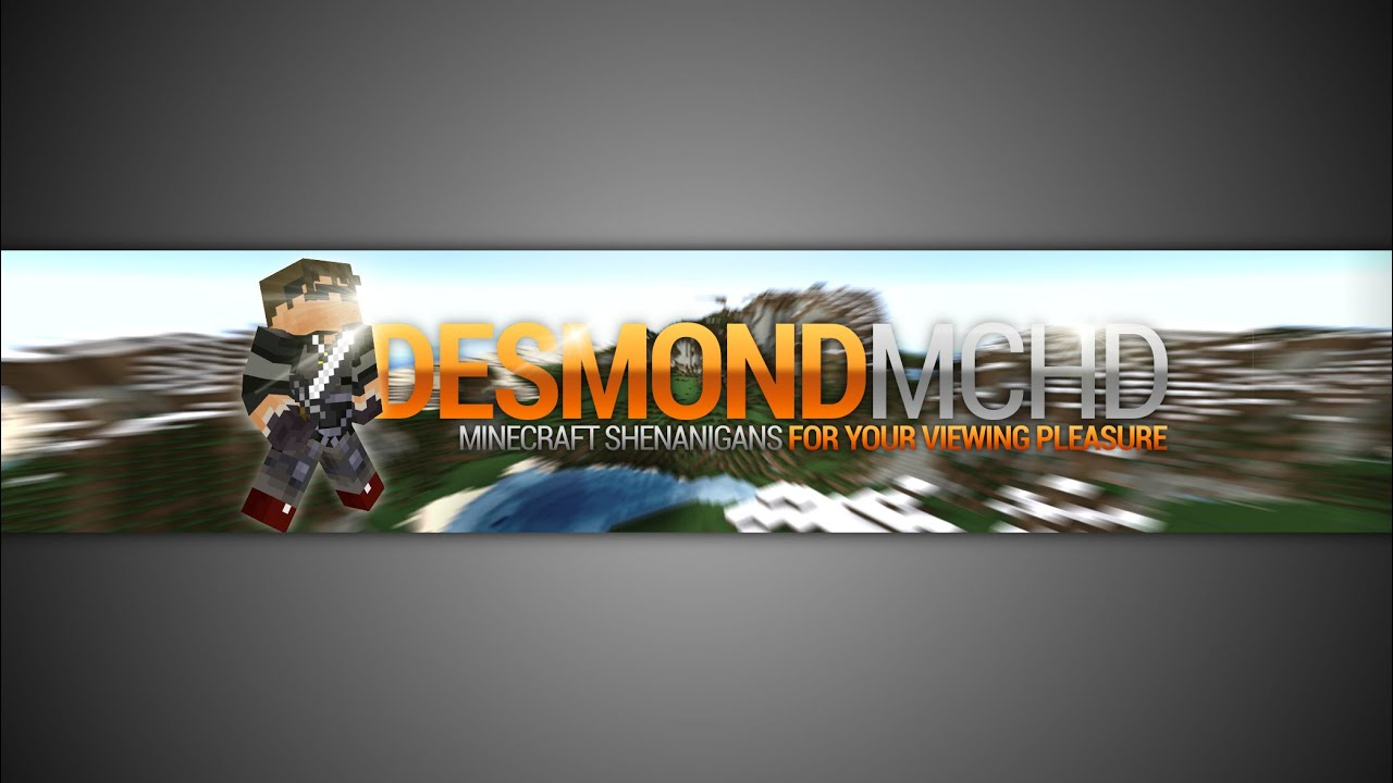 Gimp Minecraft Youtube Banner Template No Photoshop