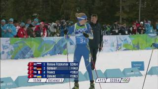 Biathlon Women 4x6KM Relay Complete Event | Vancouver 2010(Women Biathlon - 4x6KM Relay Complete Event at the Vancouver 2010 Winter Olympic Games. Athletes featured in this video: BOGALIY-TITOVETS ..., 2010-03-16T23:41:56.000Z)