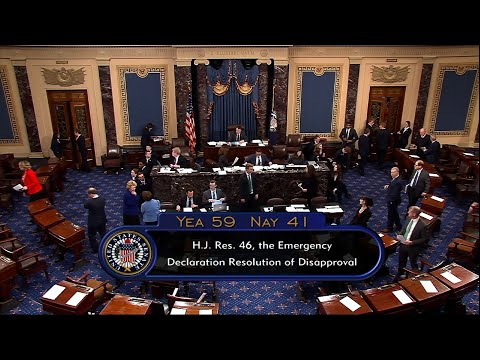 Senate rejects Trump border emergency