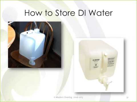 The Purest, Greenest, Most Natural All Purpose Cleaner ~ Deionized Water