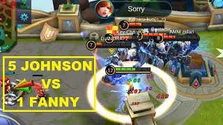 MIRROR MODE 5 FANNY VS 5 JOHNSON (GOD AMONG MEN Gameplay) Mobile Legends