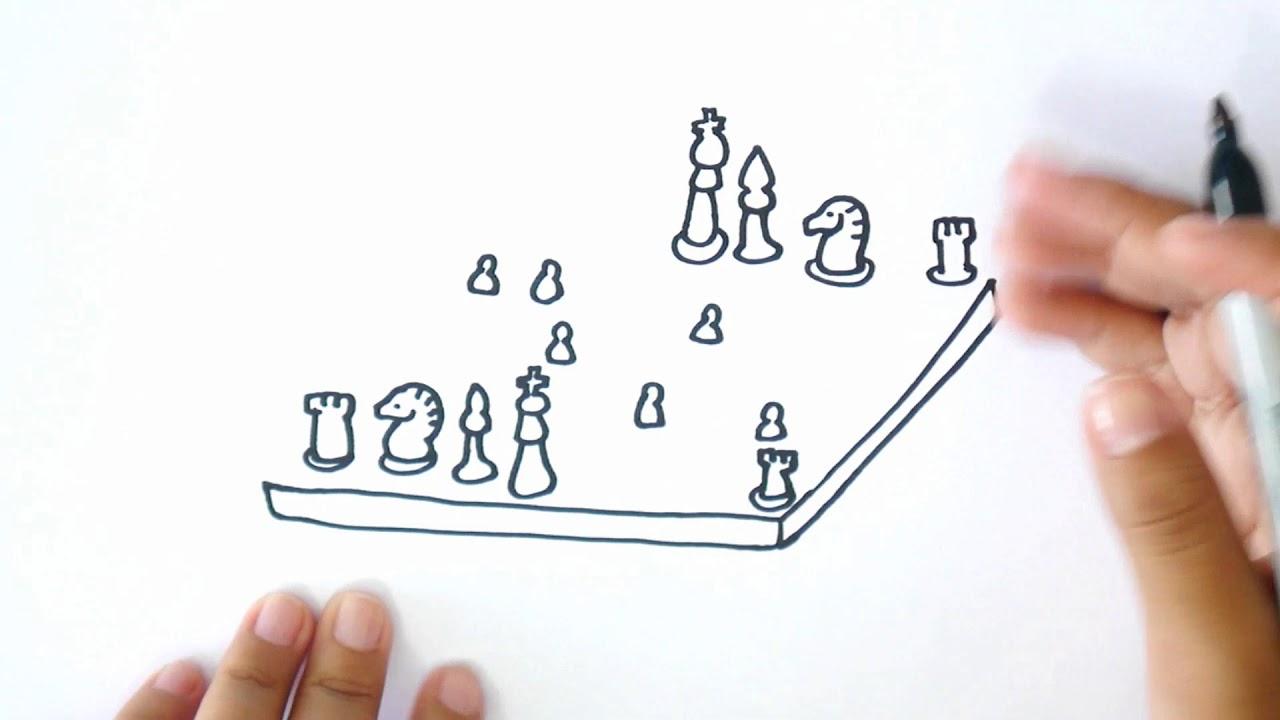 ¿Cómo dibujar un Ajedrez? - Dibujo de un Ajedrez - YouTube