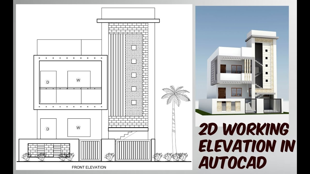 how draw working elevation in autocad
