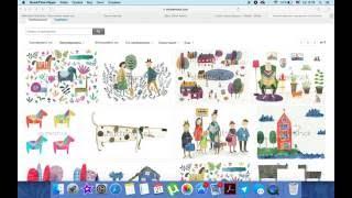 Акварельные иллюстрации и стоки