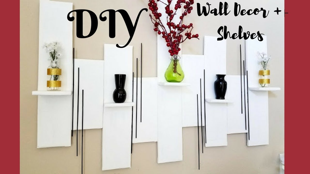 Quick Easy Diy Wall Art : Quick and easy diy wall art mini shelves room decor