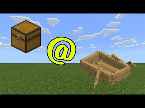 How To Put A Chest On A Boat In Minecraft Bedrock