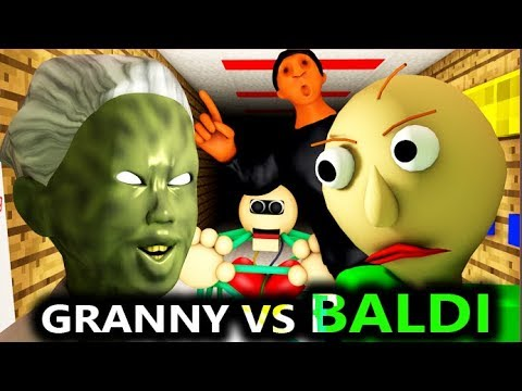 BALDI'S BASICS VS GRANNY CHALLENGE! (Official) Baldi Minecraft Animation Horror Game Video thumbnail